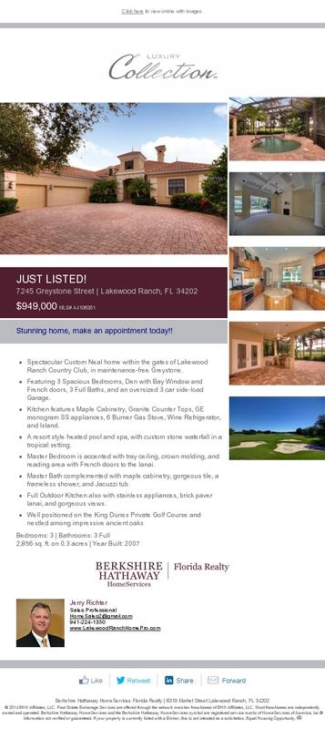 Gainesville Luxury Designer Home: Greystone E Card 4